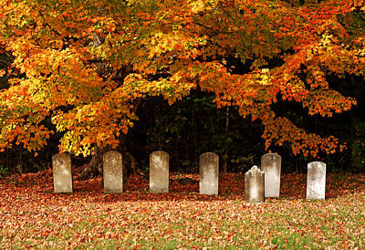 Photograph - Autumn In The Cemetery by Daniel Woodrum
