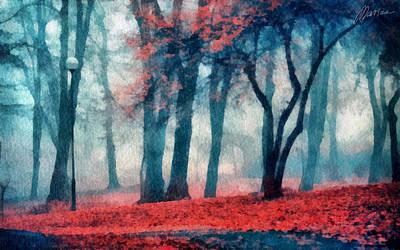 Autumn In The City Art Print by Marina Likholat