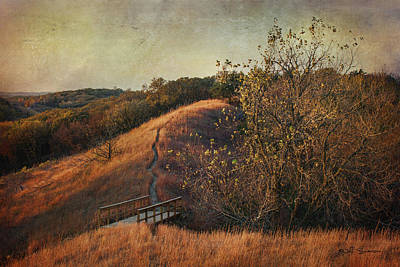 Autumn In The Loess Hills Print by Jeff Swanson