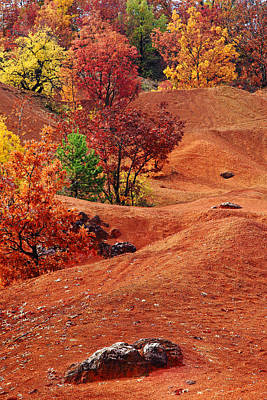 Photograph - Autumn in the old mine by Ferenc Farago - Photograph Art