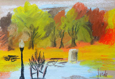 Pastel - Autumn In The Park by Steve Jorde