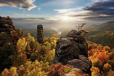 Autumn In The Rocks Art Print