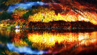 Manipulation Photograph - Autumn In The Scottish Highlands by Mario Carini