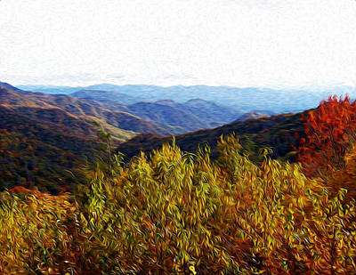 Autumn In The Smokey Mountains Art Print by Phil Perkins