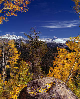 Photograph - Autumn In The Tetons by Leland D Howard
