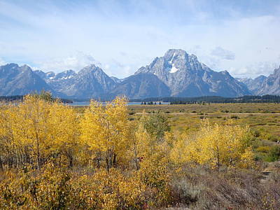 Photograph - Autumn In The Tetons by Susan Woodward