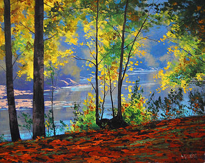 Reflection Painting - Autumn In Tumut by Graham Gercken