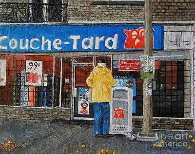 Montreal Art Verdun Street Scenes Painting - Autumn In Verdun by Reb Frost