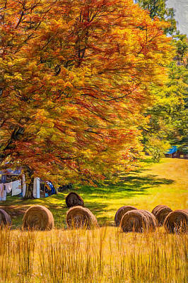Autumn In West Virginia - Paint Art Print by Steve Harrington