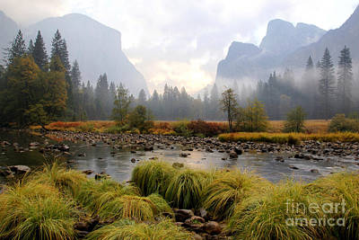 Autumn In Yosemite Valley Art Print
