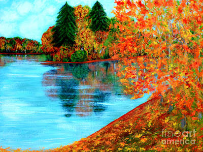Painting - Autumn. Inspirations Collection. by Oksana Semenchenko