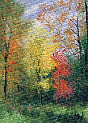 Art Print featuring the painting Autumn by Joe Winkler