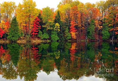 Lake Photograph - Autumn Kaleidoscope by Terri Gostola