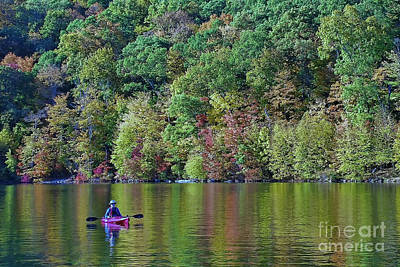 Photograph - Autumn Kayak by Allen Beatty