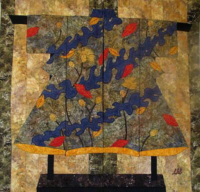 Autumn Kimono Diptych Original by Lynda K Boardman