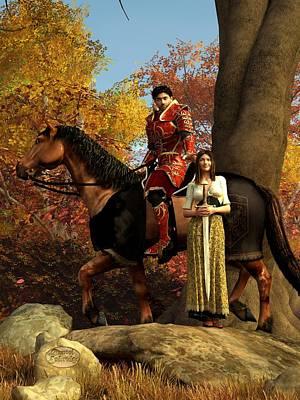 Autumn Knight Print by Daniel Eskridge