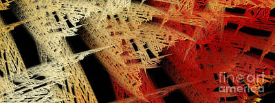 Digital Art - Autumn Lace 2 by Andee Design