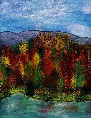 Painting - Autumn Lagoon 1 Of 2 Set by Barbara St Jean