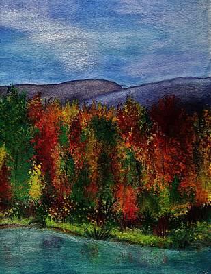 Autumn Lagoon 2 Of 2 Set Print by Barbara St Jean