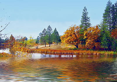 Photograph - Autumn Lake In The Woods by Joyce Dickens