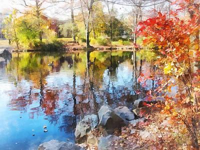 Water Photograph - Autumn Lake by Susan Savad