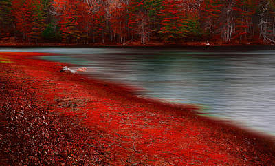 With Red Photograph - Autumn Land by Lourry Legarde
