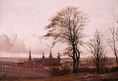 Autumn Landscape. Frederiksborg Castle In The Middle Distance Art Print