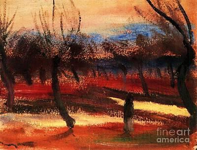 Autumn Landscape Art Print by Pg Reproductions