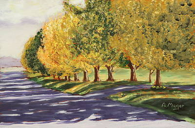 Painting - Autumn Lane by Alan Mager