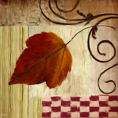 Autumn Leaf Art Print by Lourry Legarde