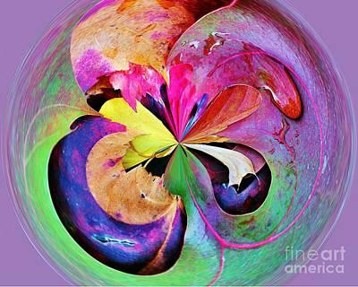 Autumn Leaf Orbital Art Print by Judy Palkimas