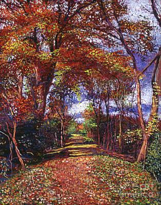 Fine Art Choices Painting - Autumn Leaf Road by David Lloyd Glover