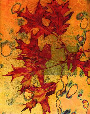 Autumn Leaves Print by Ann Powell