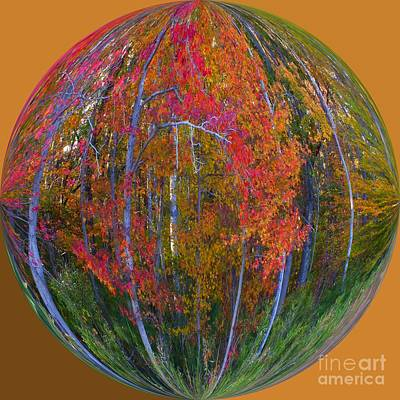 Autumn Leaves Art Deco Art Print by Scott Cameron