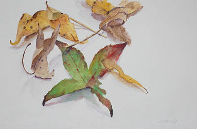 Still Life Painting - Autumn Leaves by Christopher Reid