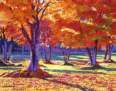 Fallen Leaf Painting - Autumn Leaves by David Lloyd Glover