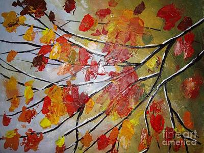 Painting - Autumn Leaves by Elena  Constantinescu