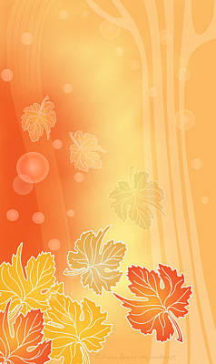 Digital Art - Autumn Leaves by Gayle Odsather