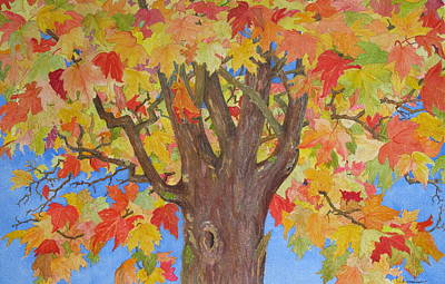 Painting - Autumn Leaves II by Mary Ellen Mueller Legault