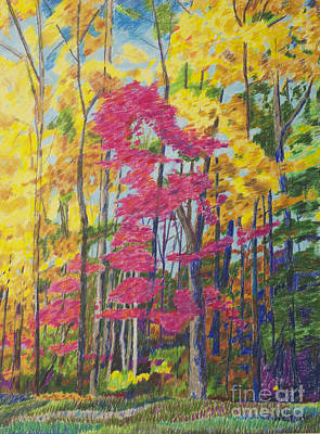 Nashville Park Painting - Autumn Leaves Natchez Trace by Arthur Witulski