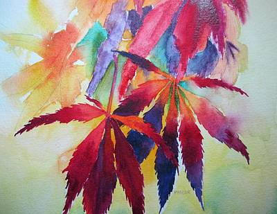 Autumn Leaves Art Print by Pat Yager