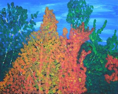 Painting - Autumn Leaves by Ron Davidson