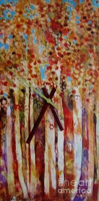 Mixed Media - Autumn Leaves by Vicki Brevell