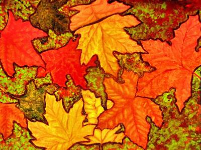 Painting - Autumn Leaves by Victoria Rhodehouse