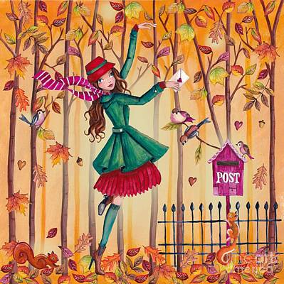 Autumn Letter Art Print
