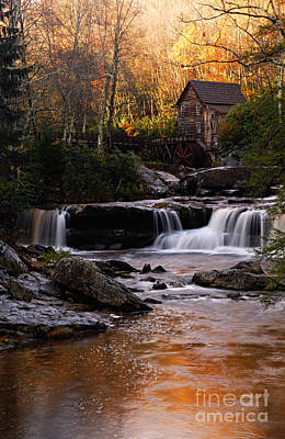Grist Mill Photograph - Autumn Light by Larry Ricker