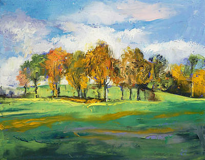 Impasto Oil Painting - Autumn Light by Michael Creese