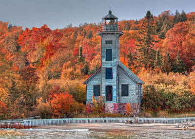 Autumn Lighthouse Art Print