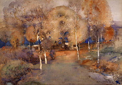 Rust Painting - Autumn  Loch Lomond, 1893 by Arthur Melville