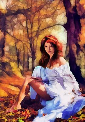 Autumn Art Print by Marina Likholat